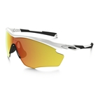Image of Oakley M2 Frame XL Sunglasses - Polished White Frame/Fire Iridium Lens