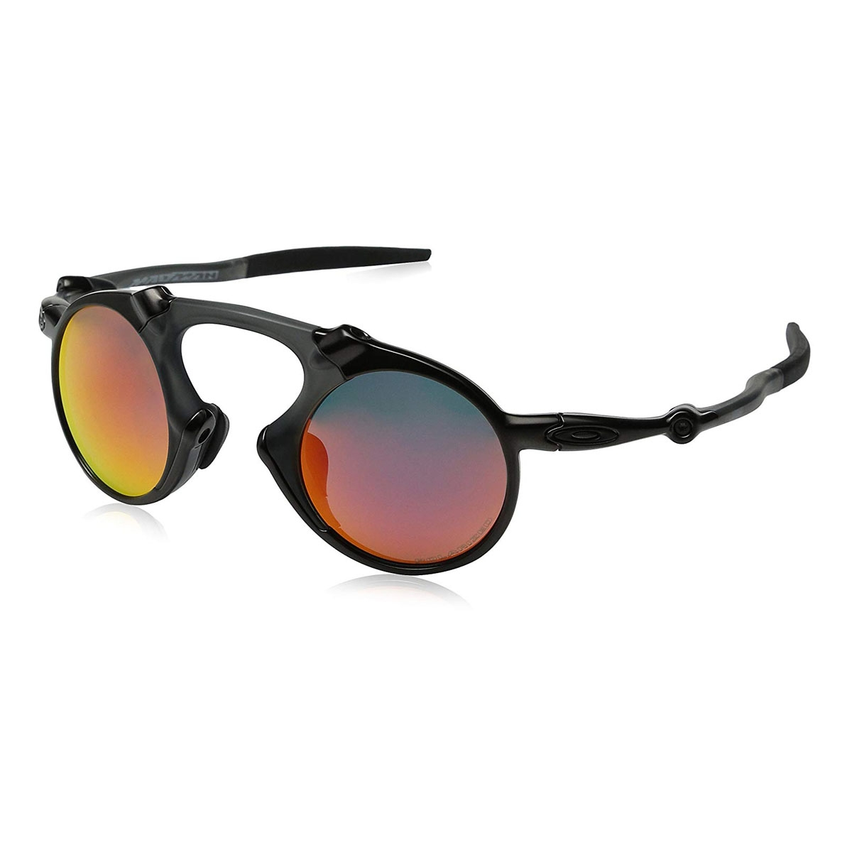 549528ae050 Image of Oakley Madman Polarized Sunglasses - Dark Carbon Frame Ruby  Iridium Polarized Lens