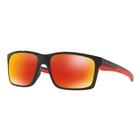 Image of Oakley Mainlink Prizm Polarised Sunglasses - Polished Black Frame/Prizm Ruby Polarized Lens