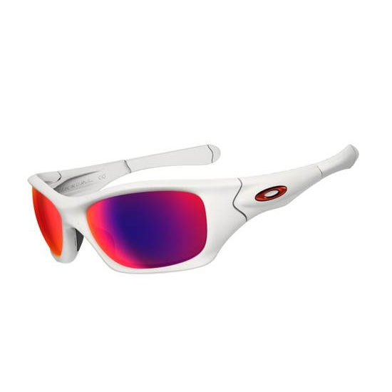 24ac4219a5 Image of Oakley Pit Bull Polarised Sunglasses - Matte White   OO Red  Polarised
