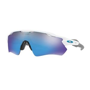 Image of Oakley Radar EV Path Prizm Sunglasses - Polished White Frames/PRIZM Sapphire Lens