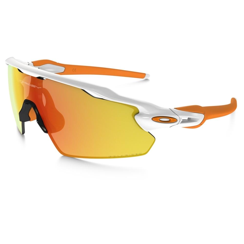 41732deb68 Image of Oakley Radar EV Pitch Men s Polarized Sunglasses - Polished White    Fire Iridium Polarized