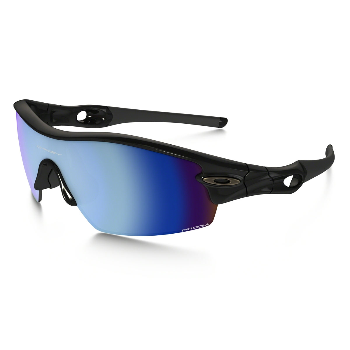 cec21552617 Image of Oakley Radar Pitch Sunglasses - Polished Black   Prizm Deep Water  Polarized