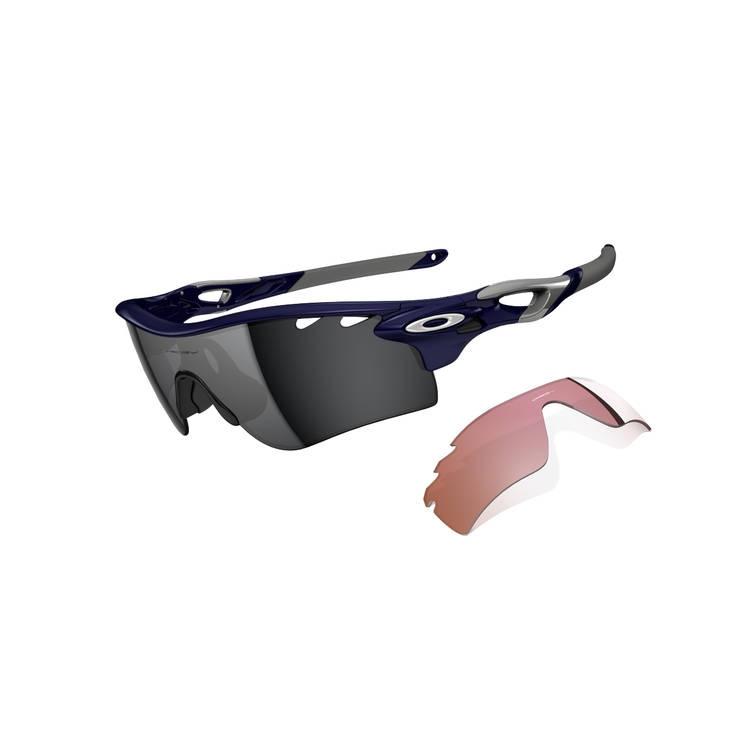 17e755e506c Image of Oakley Radarlock Path Men s Sunglasses - Polished Navy   Black  Iridium   VR28 Vented
