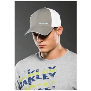 Image of Oakley Silicon Bark Trucker Cap - Sheet Metal