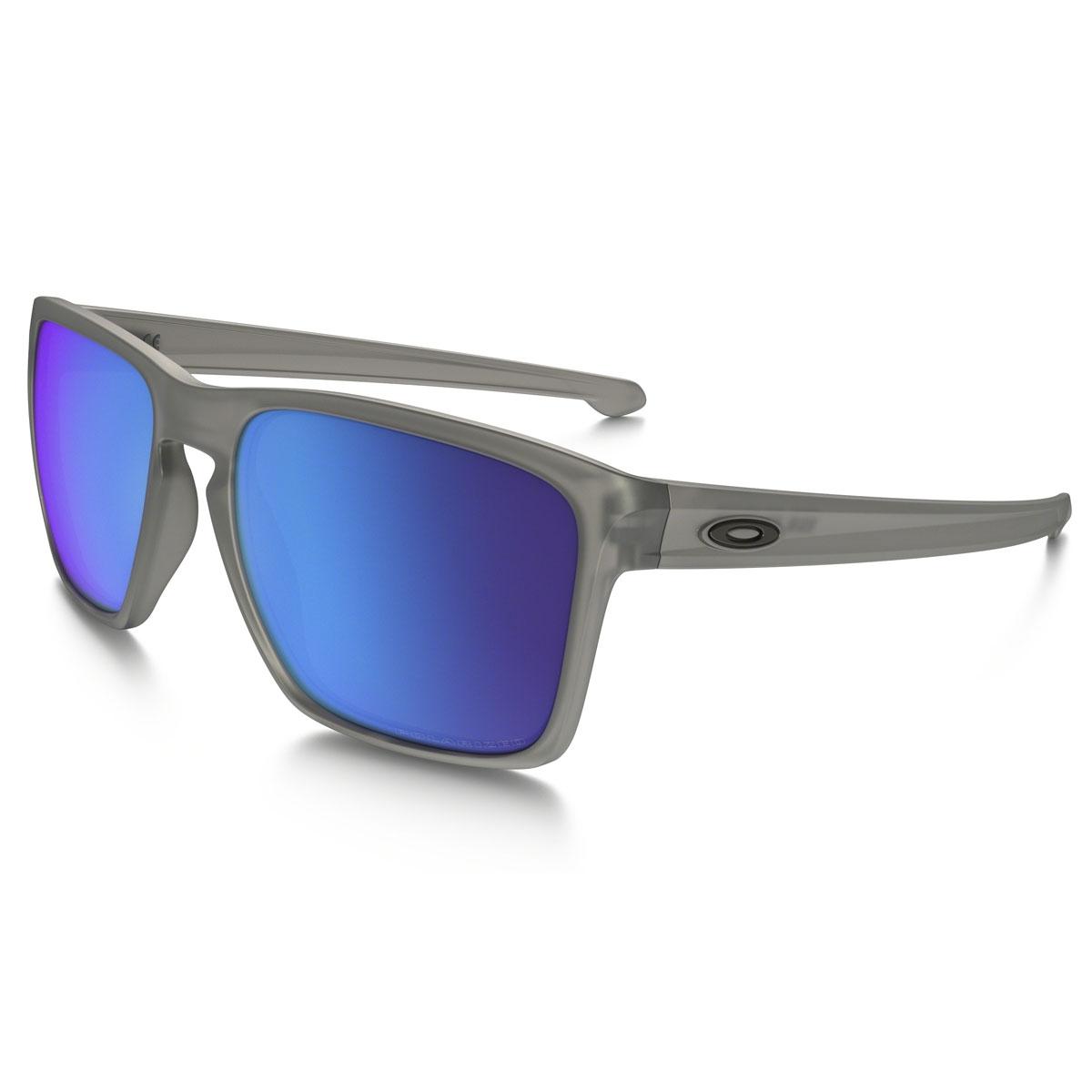c1c9ba19e00 Image of Oakley Sliver XL Polarized Sunglasses - Matte Grey Frame    Sapphire Iridium Lens