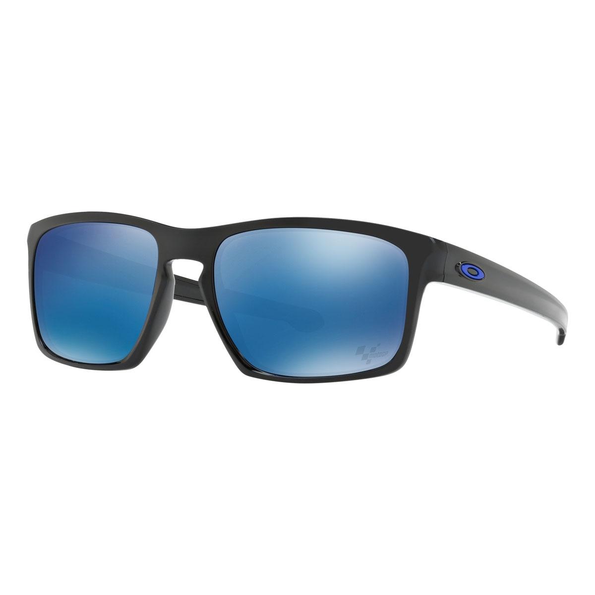 1b43005e8a Image of Oakley Sliver MotoGP Sunglasses - Polished Black Frame/Ice Iridium  Lens ...