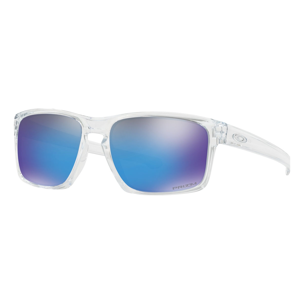 Oakley Sliver Prizm Sunglasses - Polished Clear Frame/Prizm Sapphire ...