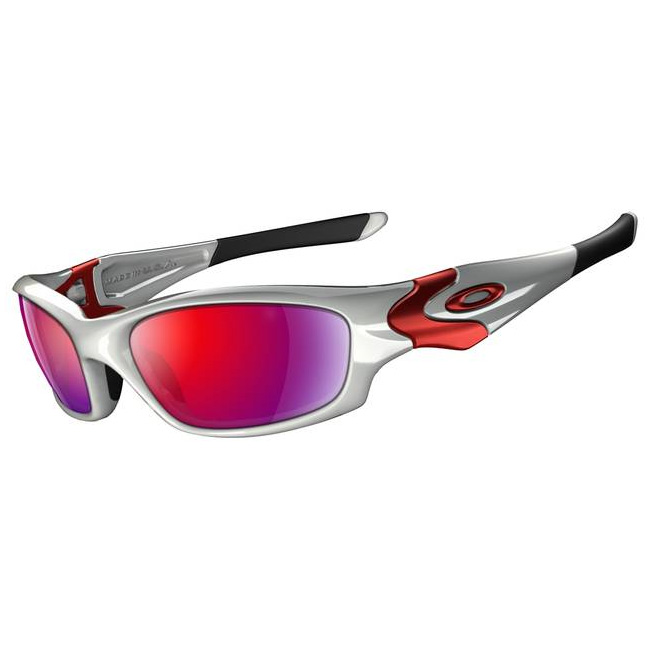 6163ab3a78f Image of Oakley Straight Jacket Sunglasses - White Chrome (Frame)    Positive Red Iridium