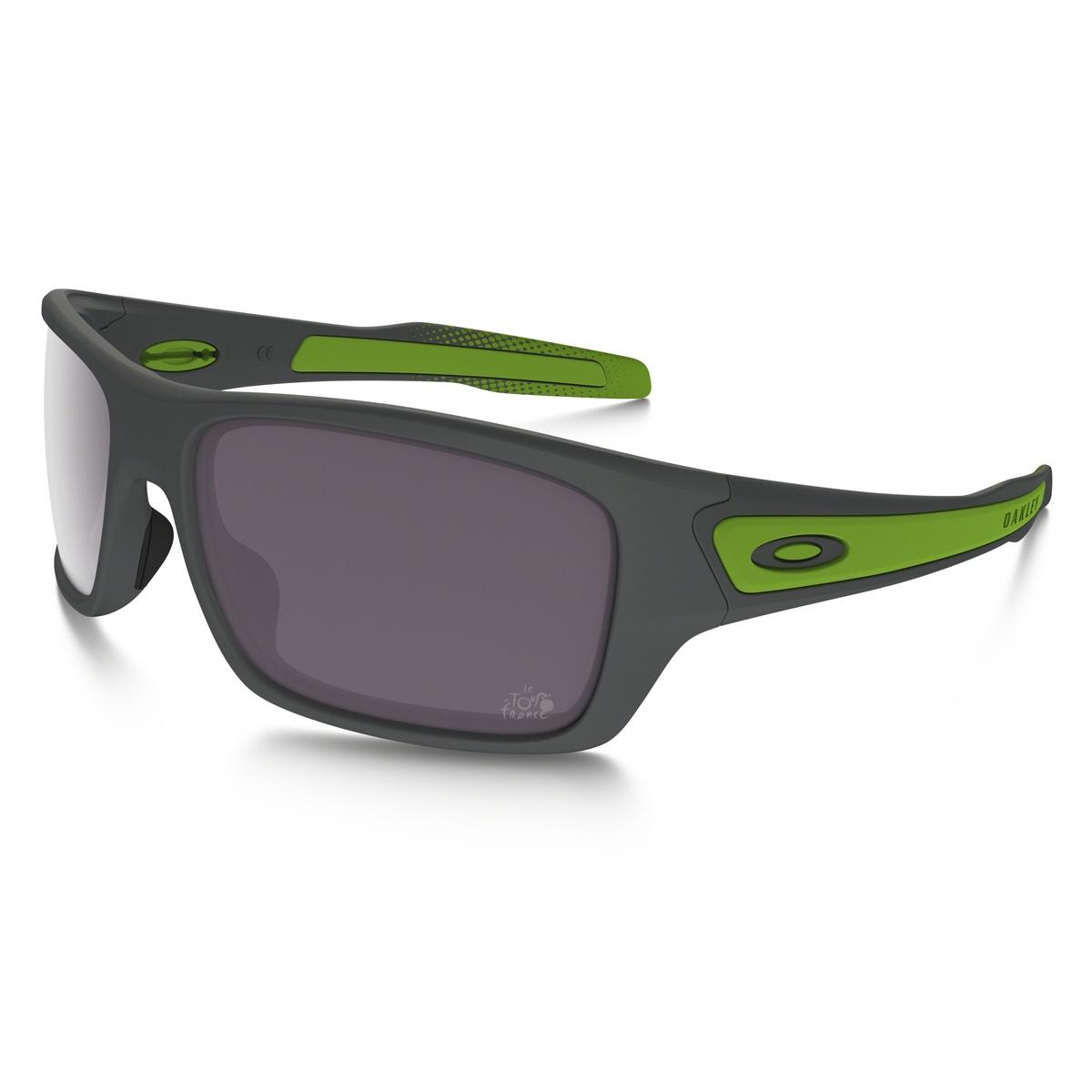 158a4ee97e Image of Oakley Turbine Prizm Daily Polarized Tour De France Sunglasses -  Matte Dark Grey Frame