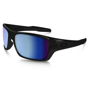 Image of Oakley Turbine Sunglasses - Polished Black / Prizm Deep Water Polarized