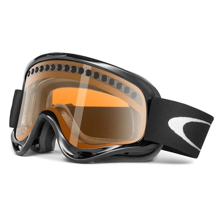 Oakley O Frame Snow Goggles - Jet Black / Persimmon | Uttings.co.uk
