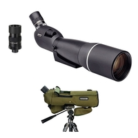 Opticron ES 100 GA ED/45 v4 Angled Spotting Scope With 27-80x SDL v2 Eyepiece And Stay On Case
