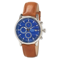 Orvis Blue Dial Three Eye Chronograph