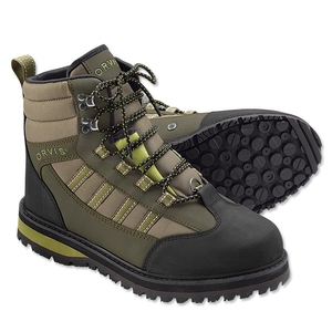 Image of Orvis Encounter Wading Boots - Rubber Sole - Tan / Olive