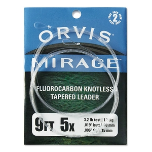 Image of Orvis Mirage Knotless Leader 2 Pack - 9ft