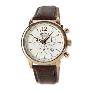Image of Orvis Vintage Rose Gold Chronograph - Cream