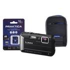 Image of Panasonic Lumix DMC-FT30 Waterproof Camera Kit WIth 16GB SD Card And Case - Black