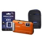 Image of Panasonic Lumix DMC-FT30 Waterproof Camera Kit WIth 16GB SD Card And Case - Orange