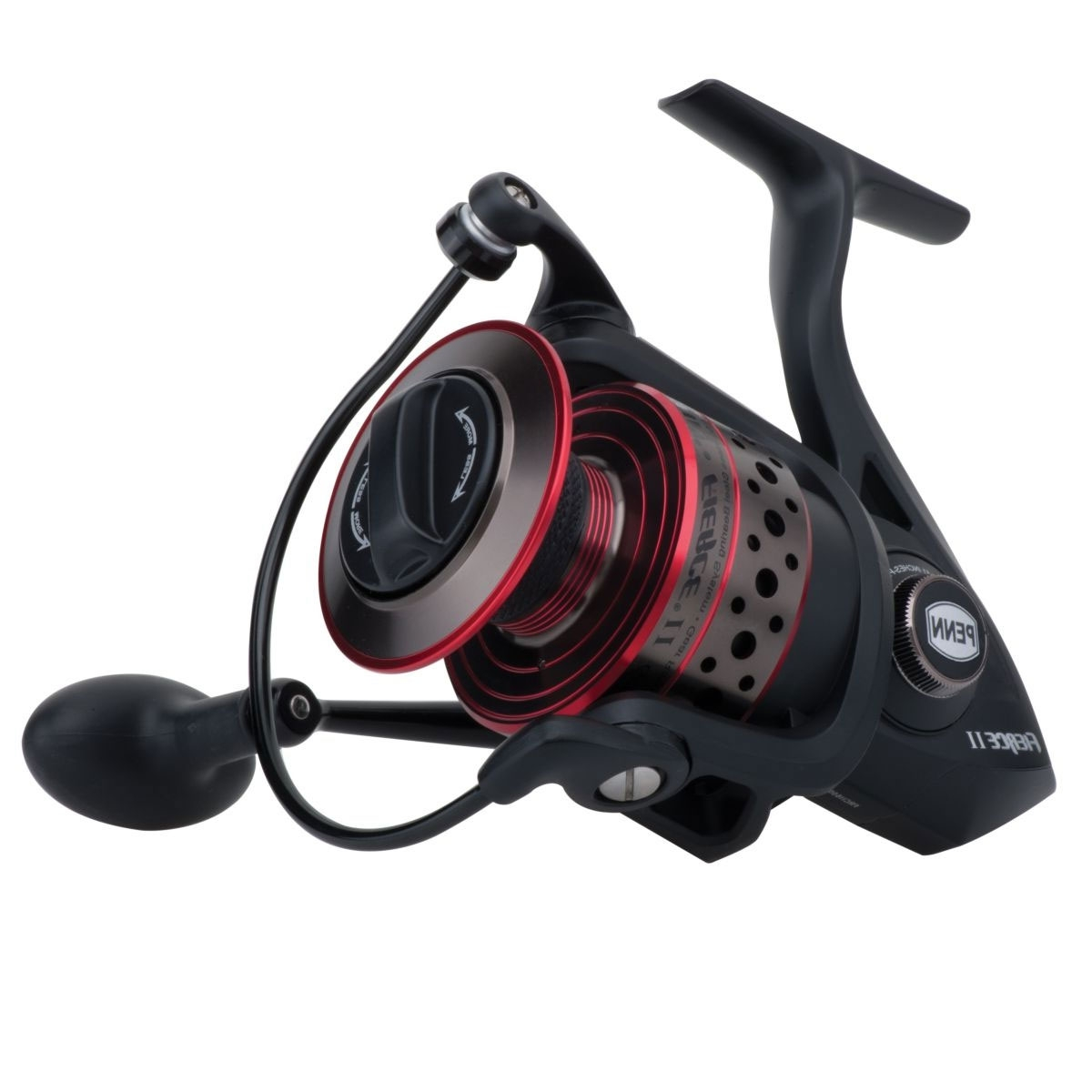 Penn Fierce II Fixed Spool Reel Black//Red