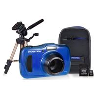 Praktica Luxmedia WP240 20MP Camera Kit With 16GB MicroSD Card, Case And Desktop Tripod