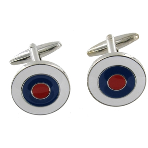 Image of Range Right Cufflinks - Target - Silver