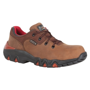 Image of Rocky Big Foot 3 Inch WP Leather Hiking Shoes - Extra Wide Fit - Brown