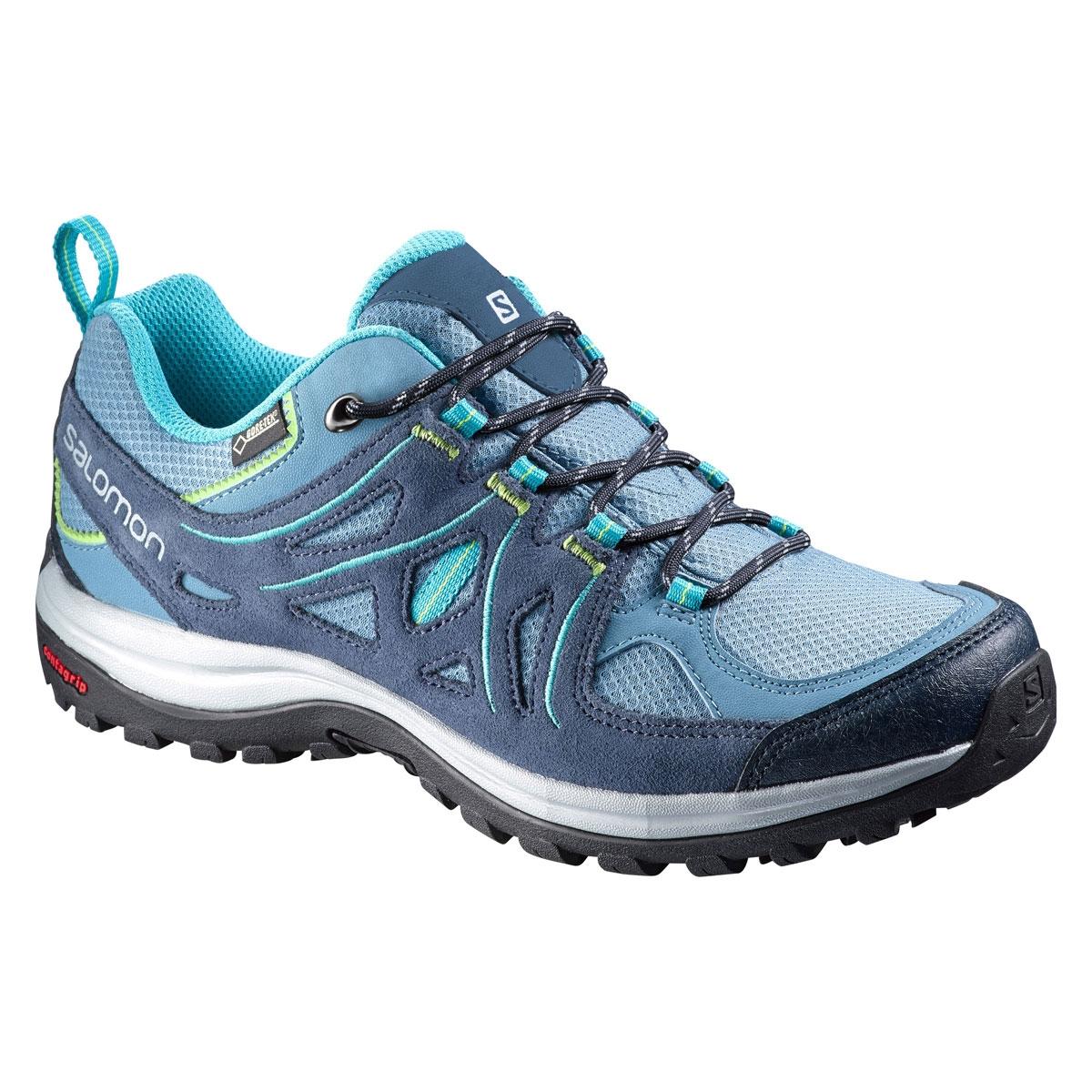 nouveau concept a72b7 761a6 Salomon Ellipse 2 GTX Lady Walking Shoes (Women's) - Rainy Blue / Slate  Blue / Teal Blue