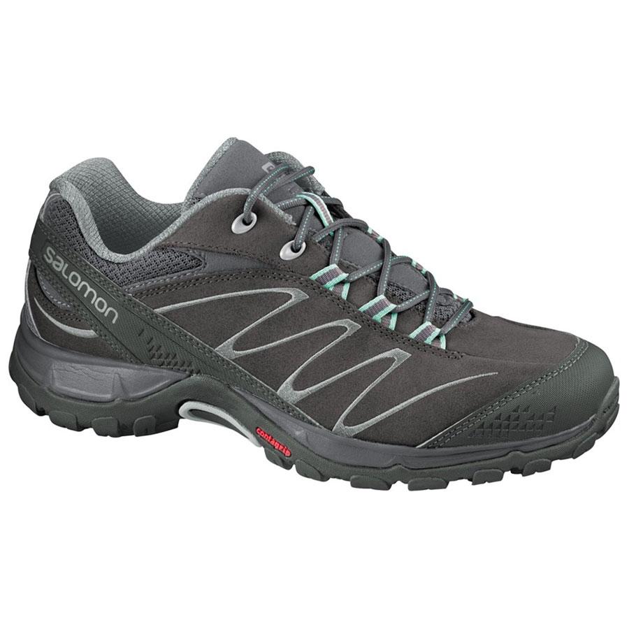 3af4b1a8b7 Salomon Ellipse 2 Leather Walking Shoes (Women's) - Autobahn/Asphalt/Black