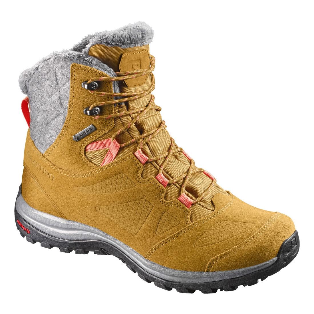 how to choose big sale variety design Salomon Ellipse Winter GTX Walking Boots (Women's) - Rawhide LTR/Living  Coral