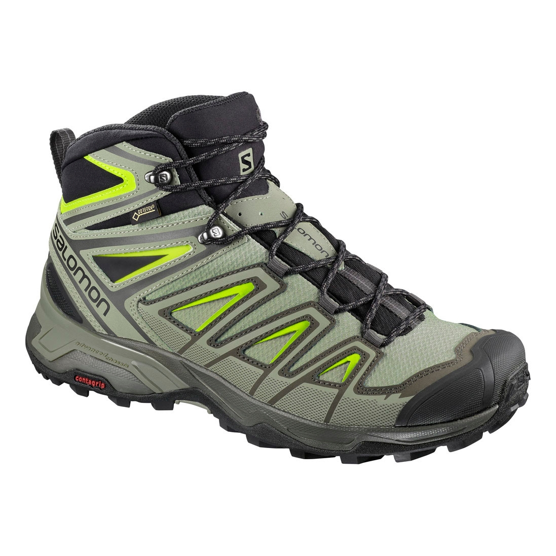 Salomon X Ultra 3 MID GTX Walking Boots (Men s) - Beluga Shadow Lime ... 6e9e0b38bc08