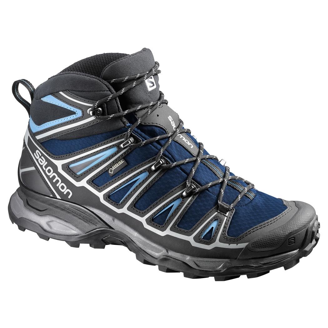 b23fd9fce5b6 Salomon X Ultra Mid 2 GTX Walking Boots (Men s) - Gentiane   Black ...