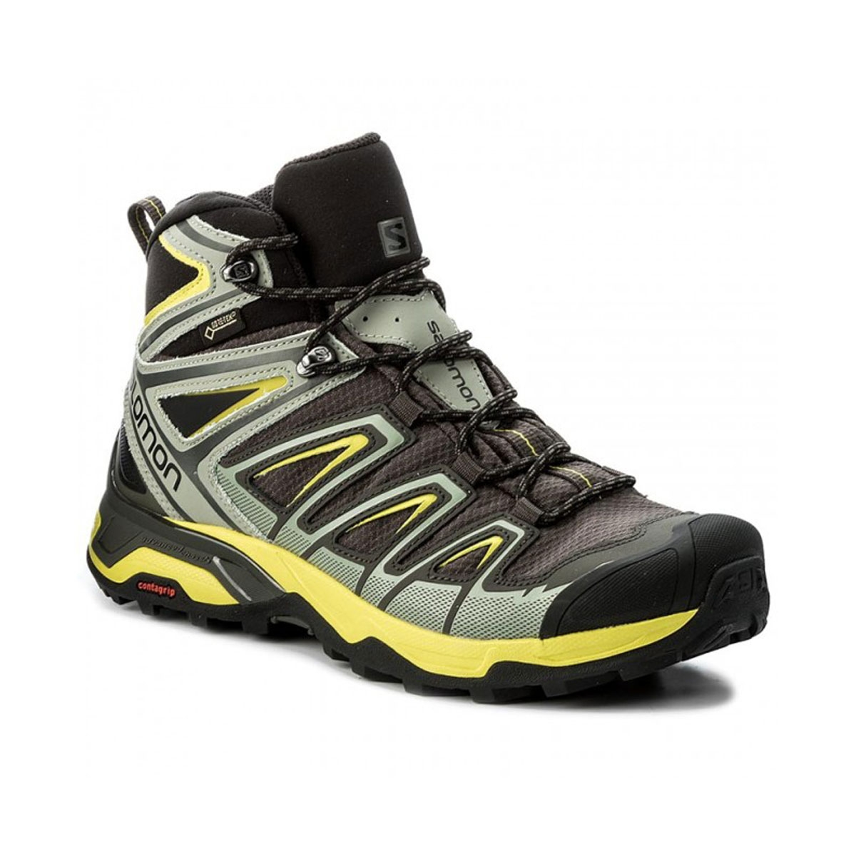 72e37cef Salomon X Ultra Mid 3 GTX Walking Boots (Men's) - Beluga/Shadow/Sulphur  Spring