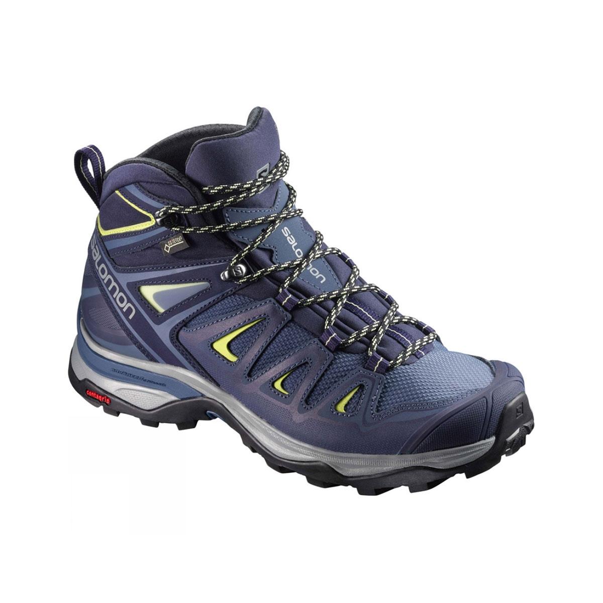 36cece49 Salomon X Ultra Mid 3 GTX Walking Boots (Women's) - Crown Blue/Evening  Blue/Sunny Lime