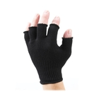 Image of SealSkinz Fingerless Merino Wool Glove Liner - Black