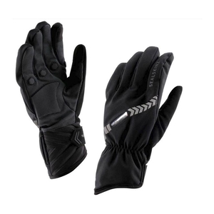 Image of SealSkinz Waterproof All Weather LED Cycle Gloves - Black/Charcoal