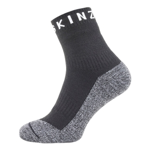 Image of SealSkinz Soft Touch Ankle Socks - Black/Grey/White