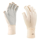 Image of SealSkinz UPF50+ Solo Fishing Gloves - Beige/Black/Grey