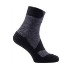 Image of SealSkinz Walking Thin Ankle Socks - Grey Marl/Dark Grey