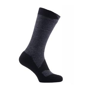 Image of SealSkinz Walking Thin Mid Socks - Dark Grey Marl/Black