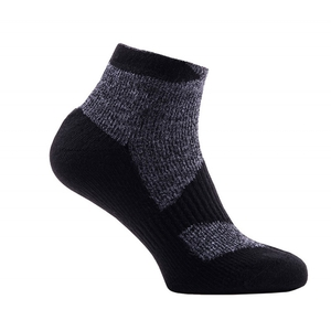 Image of SealSkinz Walking Thin Socklet Socks - Grey Marl/Dark Grey