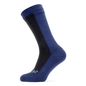 Image of SealSkinz Waterproof Cold Weather Mid Length Socks - Black/Navy Blue