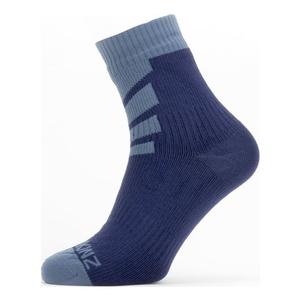 Image of SealSkinz Waterproof Warm Weather Ankle Length Socks - Navy Blue