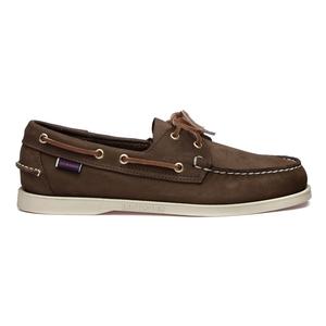 Image of Sebago Docksides Shoe (Men's) - Dark Brown Nubuck