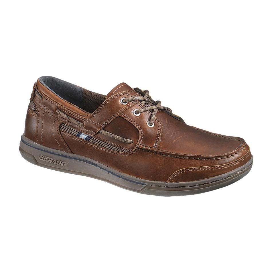 Sebago TRITON 3 EYE - Boat shoes - brown oiled/dark brown