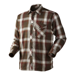 Image of Seeland Moscus Fleece Lined Shirt - Pine Green Check