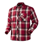 Image of Seeland Moscus Fleece Lined Shirt - Chili Red Check