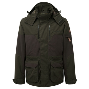 Image of Shooterking Highland Jacket - Dark Olive/Brown