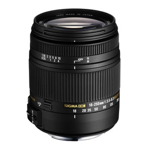 Image of Sigma 18-250mm f3.5-6.3 DC Macro OS HSM Lens - Nikon Fit