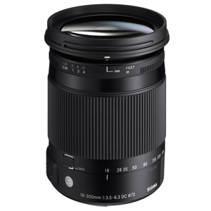 Image of Sigma 18-300mm f3.5-6.3 DC Macro OS HSM Lens - Canon Fit